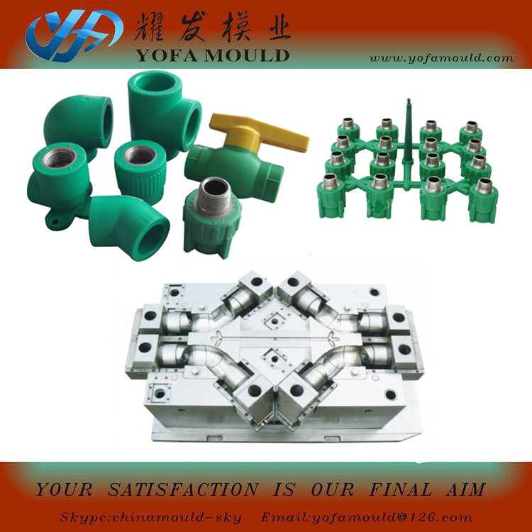 Durable Plastic Pipe Fitting Mould & Pv
